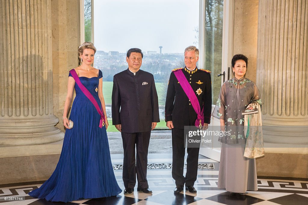 Gala Diner King Philippe Chinese President : News Photo