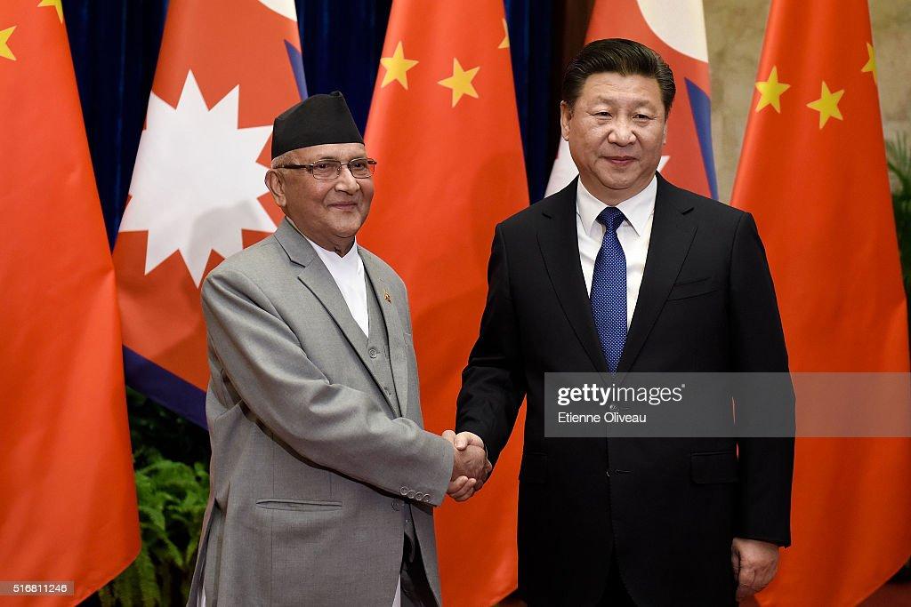 Nepal Prime Minister Khadga Prasad Sharma Oli Visits China : News Photo