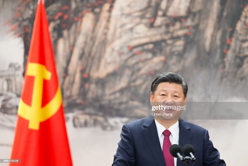 Members Of The Standing Committee Of The Political Bureau Of The New CPC Central Committee Make Public Appearances : News Photo