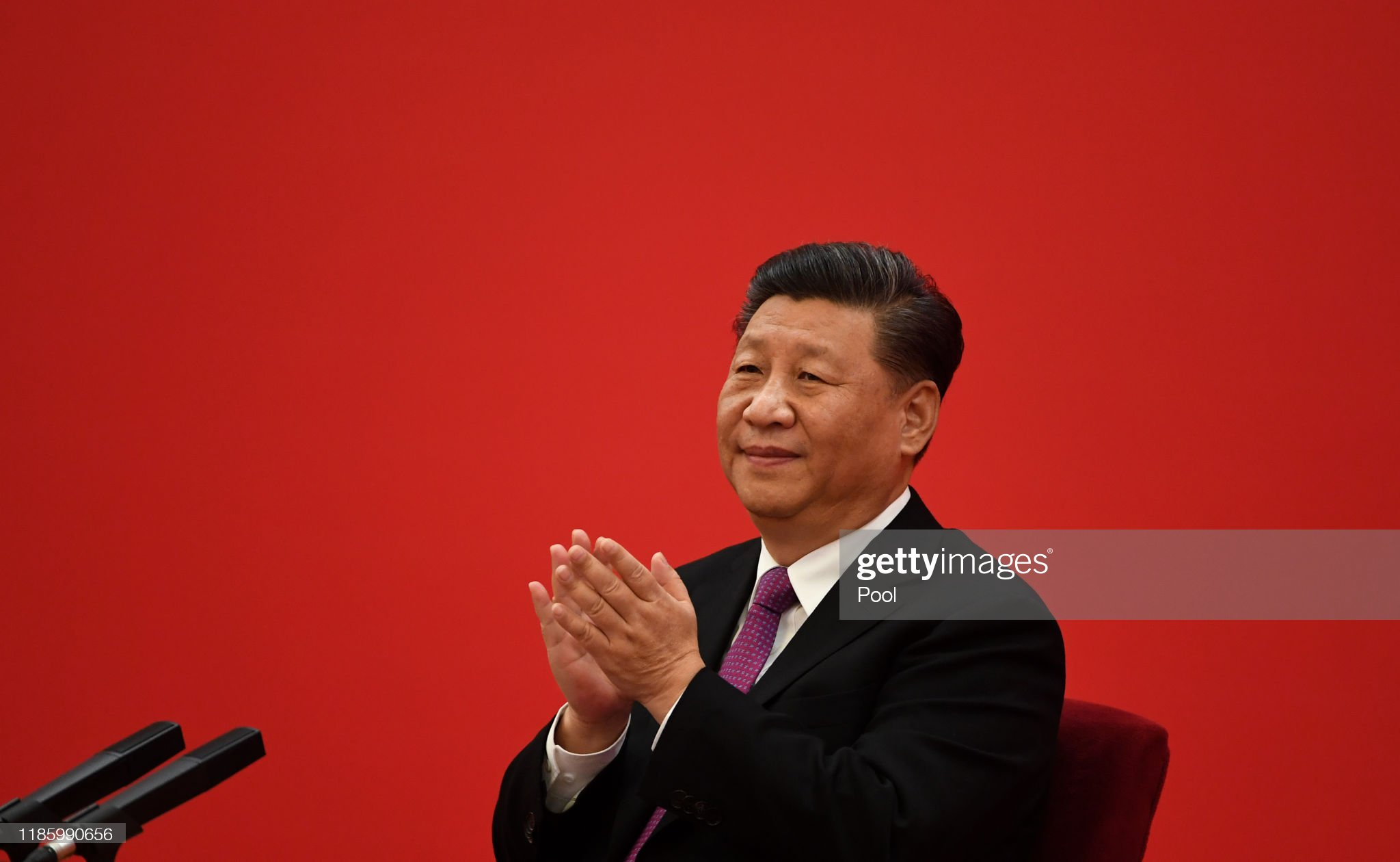 Chinese President Xi Jinping Speaks With Russian President Vladimir Putin Via Video Link : News Photo