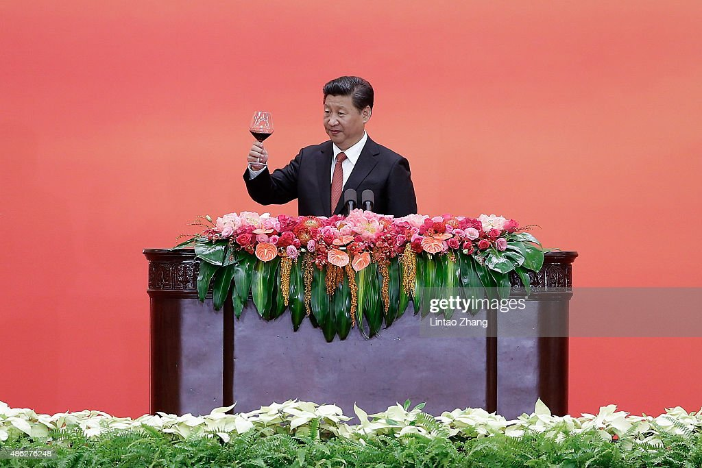 President Xi Hosts A Reception To Commemorate End Of World War II In Asia : News Photo