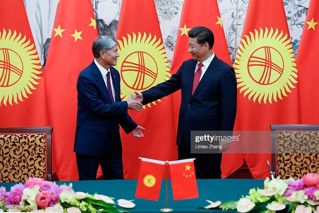 President Of Kyrgystan Almazbek Atambayev Visits China