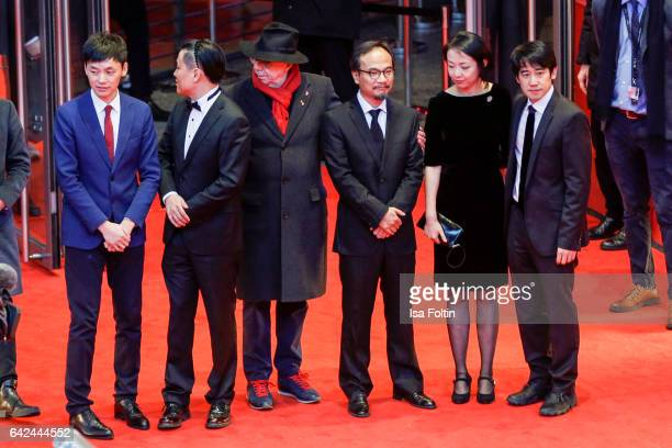 Chinese producer Yang Cheng Dieter Kosslick chinese director Liu Jian Chinese composer David Liang and other team members attend the 'Have a Nice...