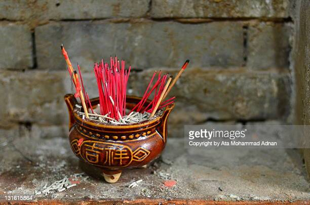 Chinese red incense sticks
