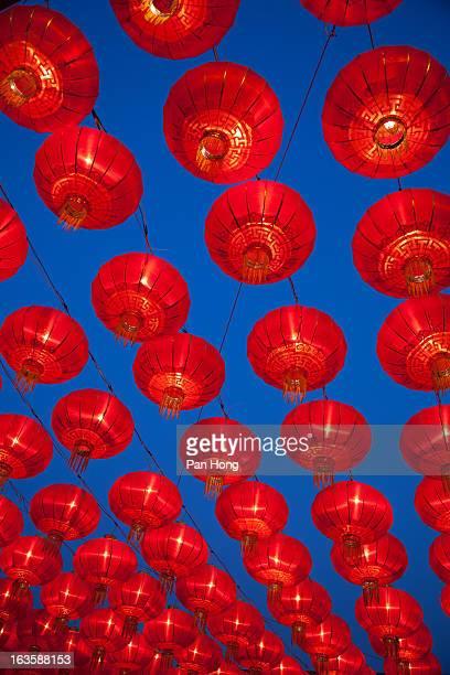 Chinese red lanterns.