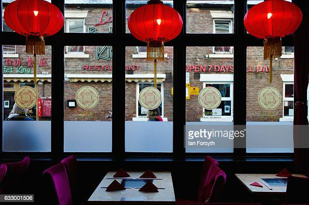 Chinese restaurant opens for customers during the Chinese New Year celebrations to mark The Year of the Rooster on January 29 2017 in Newcastle Upon...