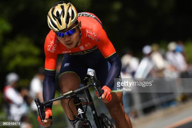 Chinese rider Meiyin Wang from team Bahrain Merida during the opening stage 26km Individual Time Trial in Daisen Park Sakai On Sunday May 20 in Sakai...