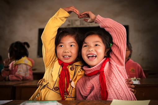 Chinese school children 472036947