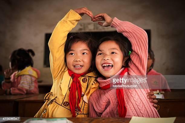中国の学校の子供