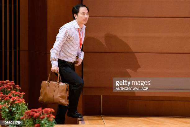 Chinese scientist He Jiankui arrives to speak at the Second International Summit on Human Genome Editing in Hong Kong on November 28 2018