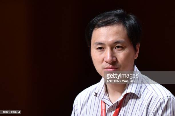 Chinese scientist He Jiankui speaks at the Second International Summit on Human Genome Editing in Hong Kong on November 28 2018 Organisers of a...