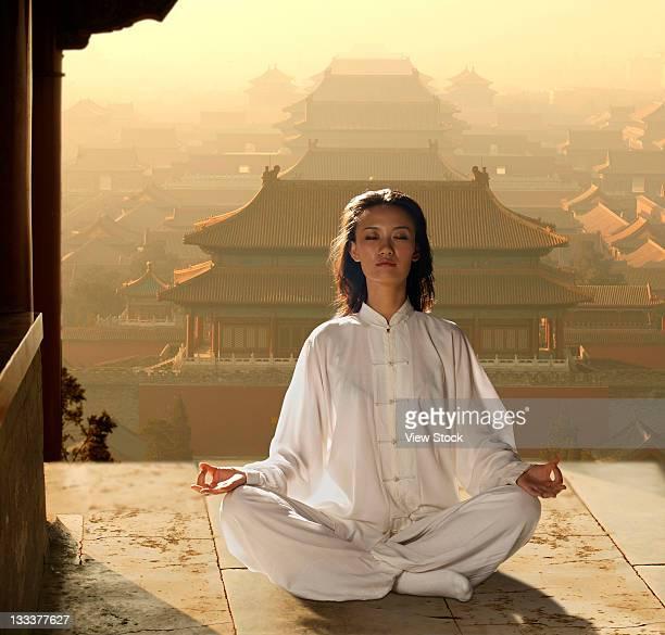 Chinese Senior Adult Exercising