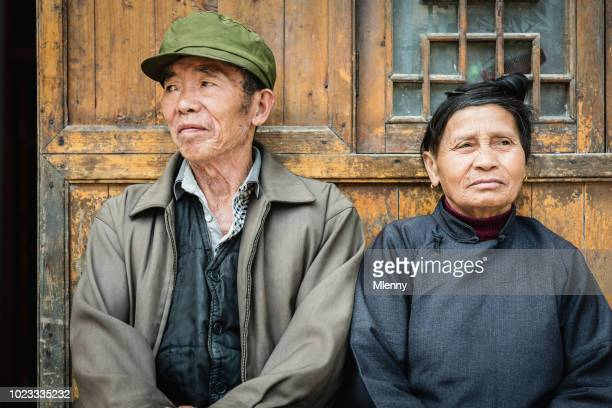 Chinese senior couple at their home China Real People Portrait