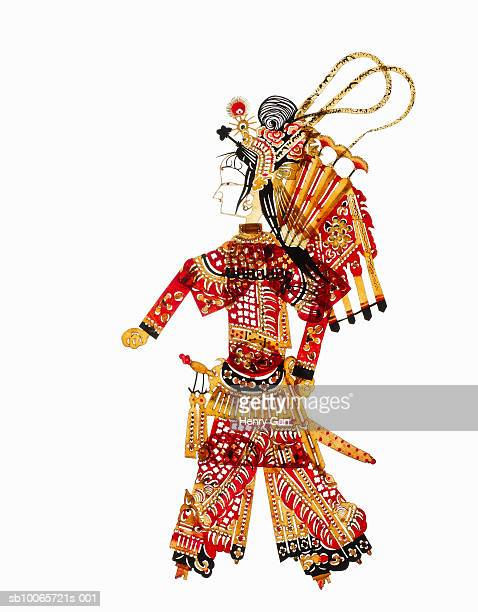 Chinese shadow puppet on white background