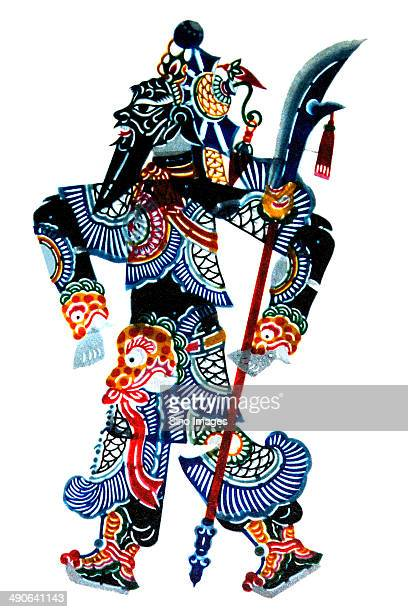 chinese shadow puppet,governmental occupation - shadow puppet stock photos and pictures