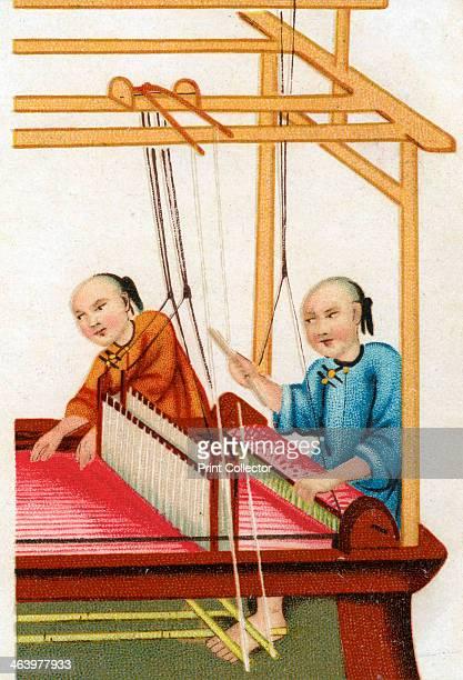 Chinese silk weaving, 20th century.
