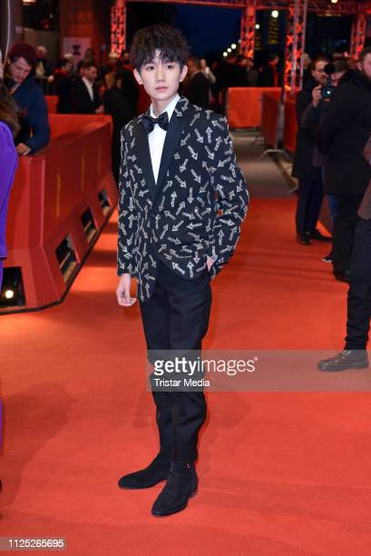 Chinese singer and actor Roy Wang arrives for the closing ceremony of the 69th Berlinale International Film Festival Berlin at Berlinale Palace on...