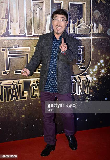 Chinese singer and actor Shu Hoi Chiu arrives at the red carpet of the 2015 Asian Influence Award Oriental Ceremony at Beijing Workers' Gymnasium on...