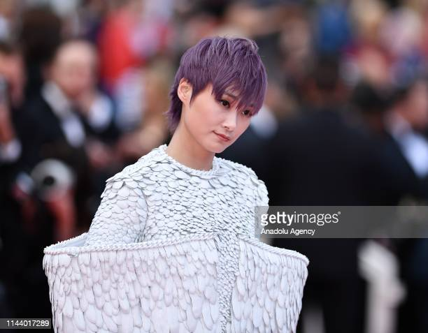Chinese singer Li Yuchun arrives for the screening of the film 'Les Miserables' in competition at the 72nd annual Cannes Film Festival France on May...