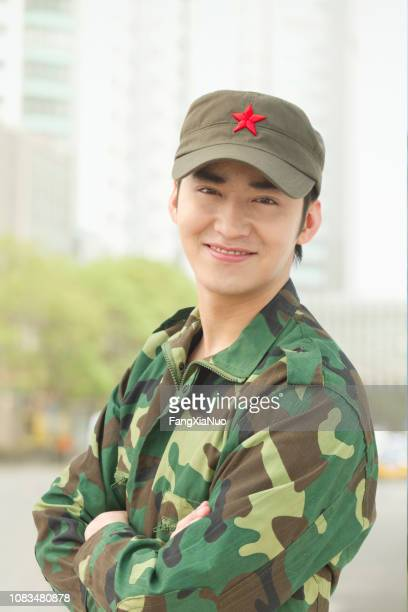 制服で中国兵 - 軍服 ストックフォトと画像