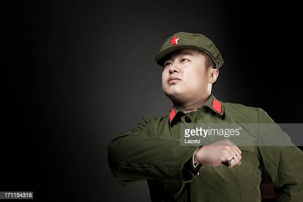 chinese soldier - communism stock pictures, royalty-free photos & images