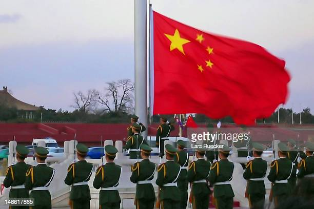 Chinese soldiers in Beijing