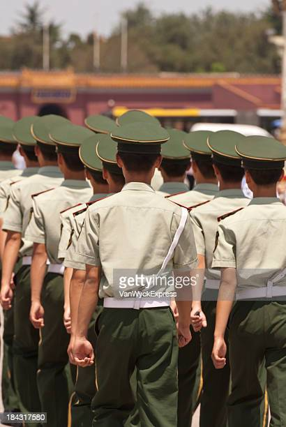 chinese soldiers - military uniform stock pictures, royalty-free photos & images