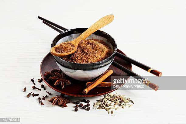Chinese spices curry powder star anise cinnamon cloves pepper fennel seeds