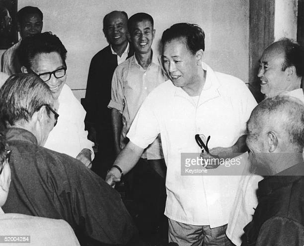 Chinese statesman Zhao Ziyang is greeted by members of parliament 15th September 1980 after his appointment as Prime Minister Zhao remained in office...