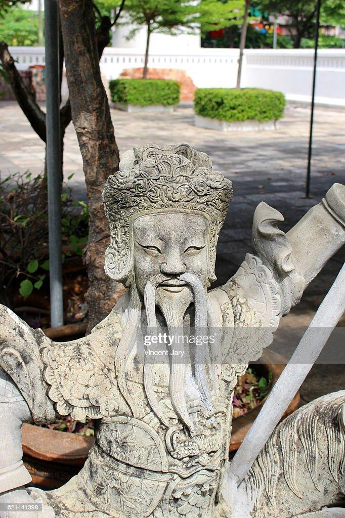 Chinese statue Wat Sommanat Wihan temple Bangkok Thailand : Photo