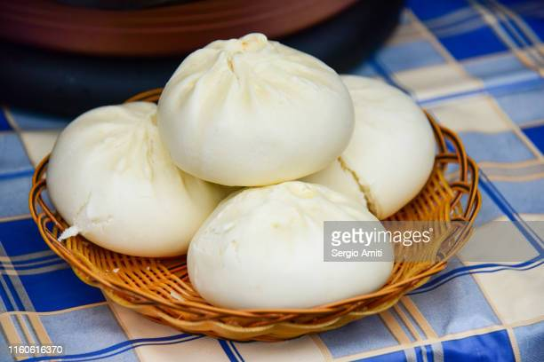 chinese steamed buns - bun stock pictures, royalty-free photos & images