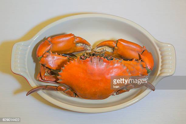 Chinese Steamed, Delicious Yangcheng Lake Hairy Crabs