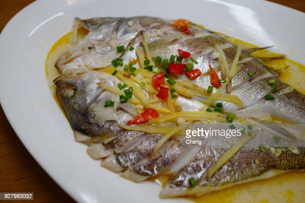 Chinese steamed sea bass
