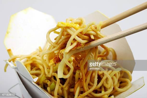 Chinese Stir Fried Noodles in Take Away Box