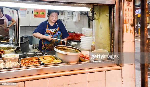 Chinese street food in Hong Kong