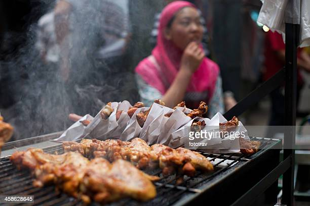 Chinese street food in Xi'An muslim quarter, China