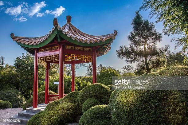 chinese structure - pergola photos et images de collection