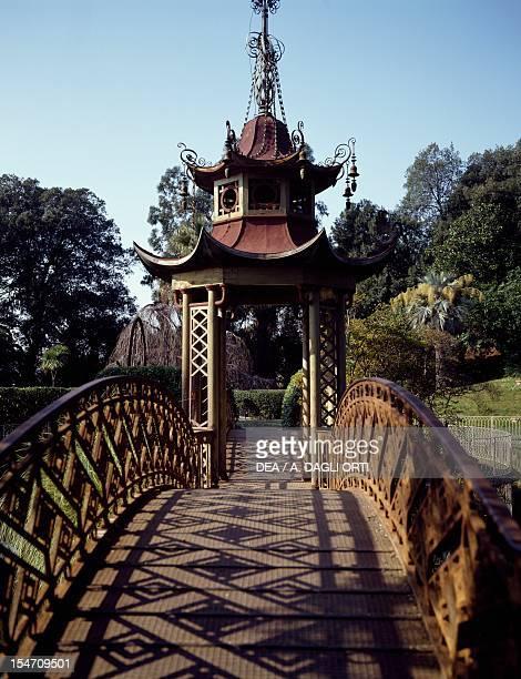 Chinese style bridge Villa Durazzo Pegli Genoa Italy 19th century