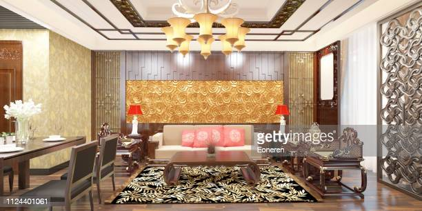 Chinese Style Living Room Interior