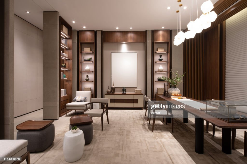 Chinese Style Living Room Interior High Res Stock Photo Getty Images