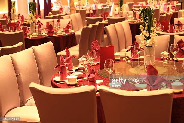 Chinese style Wedding reception tables