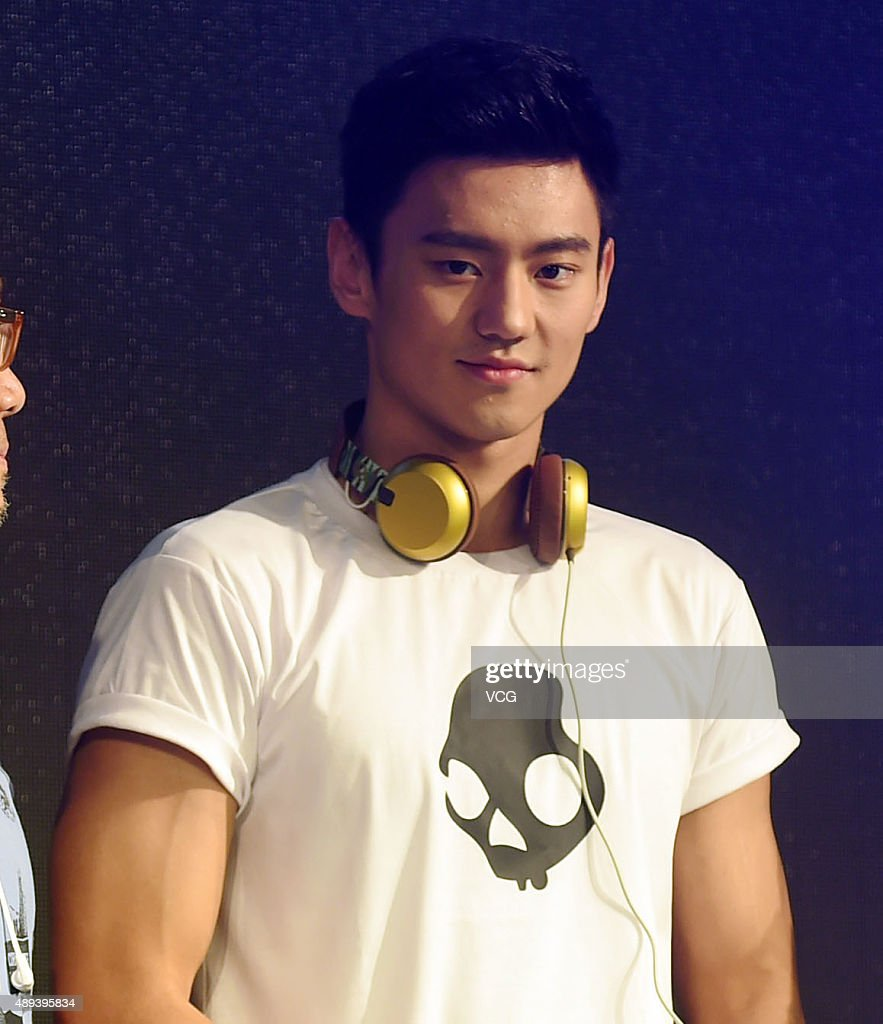 Chinese swimmer Ning Zetao attends a commercial event on September 20, 2015 in Shanghai, China.