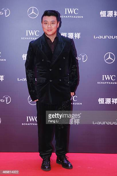 Chinese table tennis player Wang Hao attends the 2015 Laureus World Sports Awards at Shanghai Grand Theatre on April 15 2015 in Shanghai China