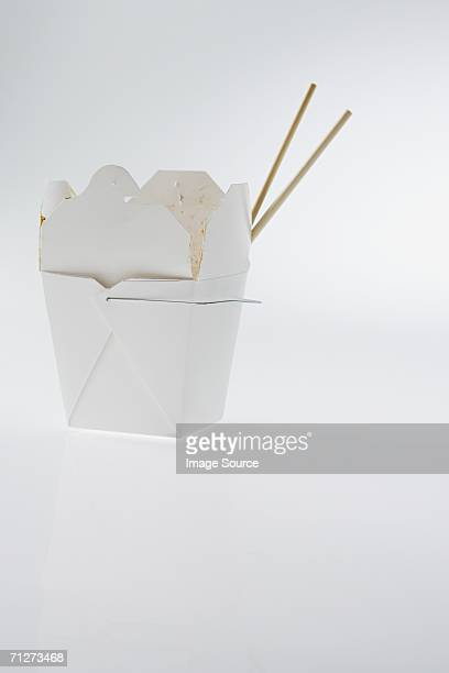 chinese takeaway - carton stock photos and pictures