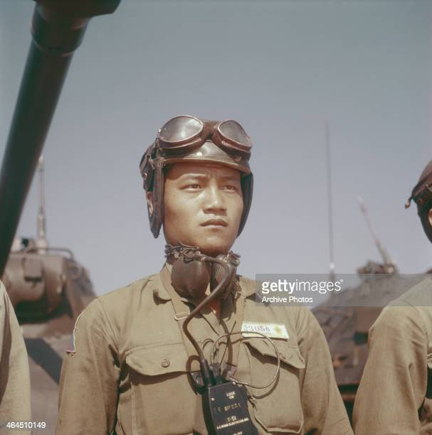 A Chinese tank corps in Taichung Taiwan October 1957