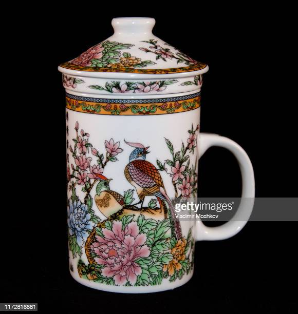 chinese cup with lid for brewing