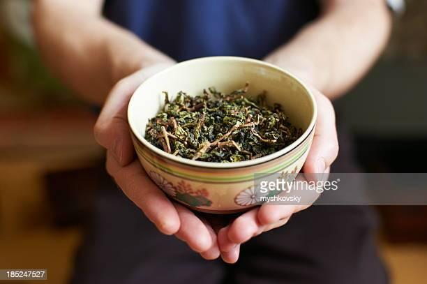 Chinese tea leaves
