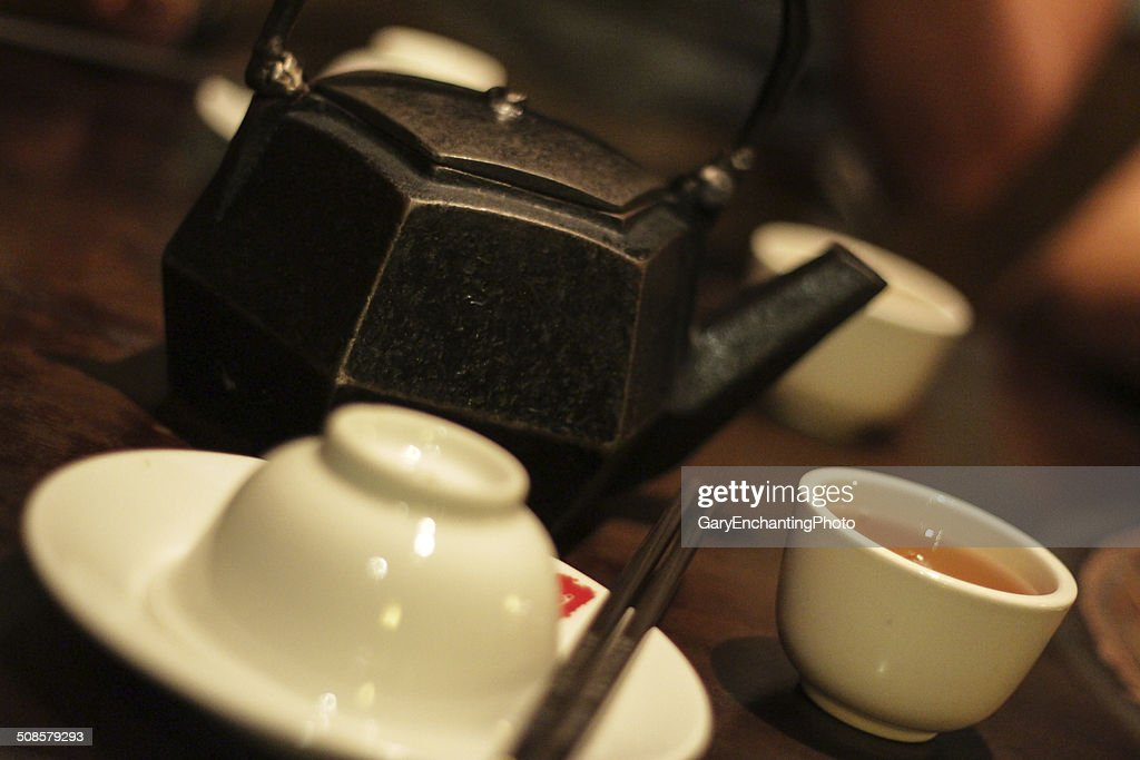 Chinesischer Tee Teekanne : Stock-Foto