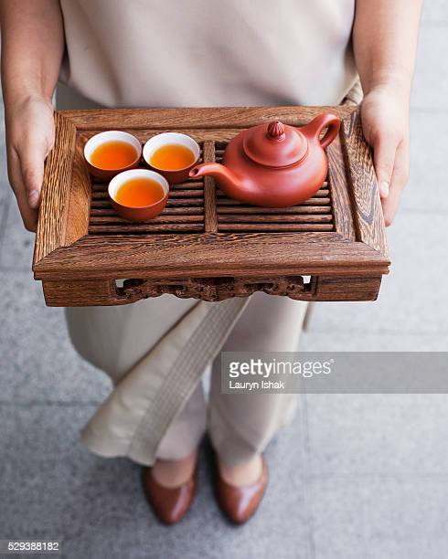 A Chinese Tea set at Capella Hotel, Singapore