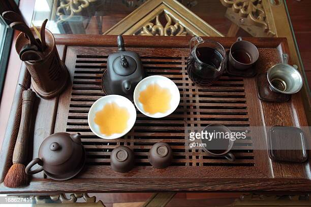 Chinese tea set on the table